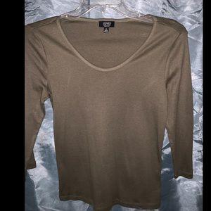 Jones NY Green 3/4 Sleeve Scoop Neck Top Size S